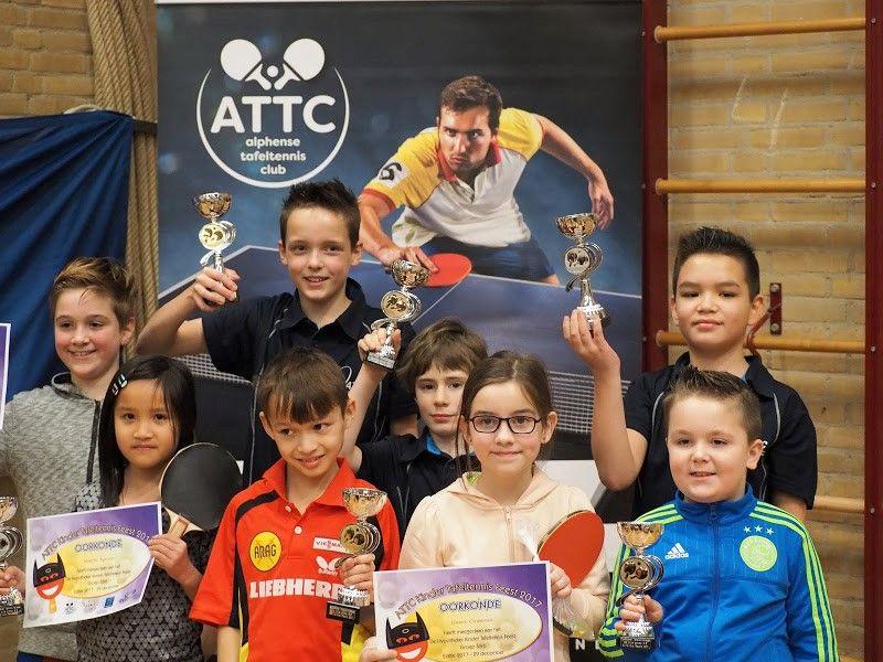 Kinder Tafeltennis Feest 2017