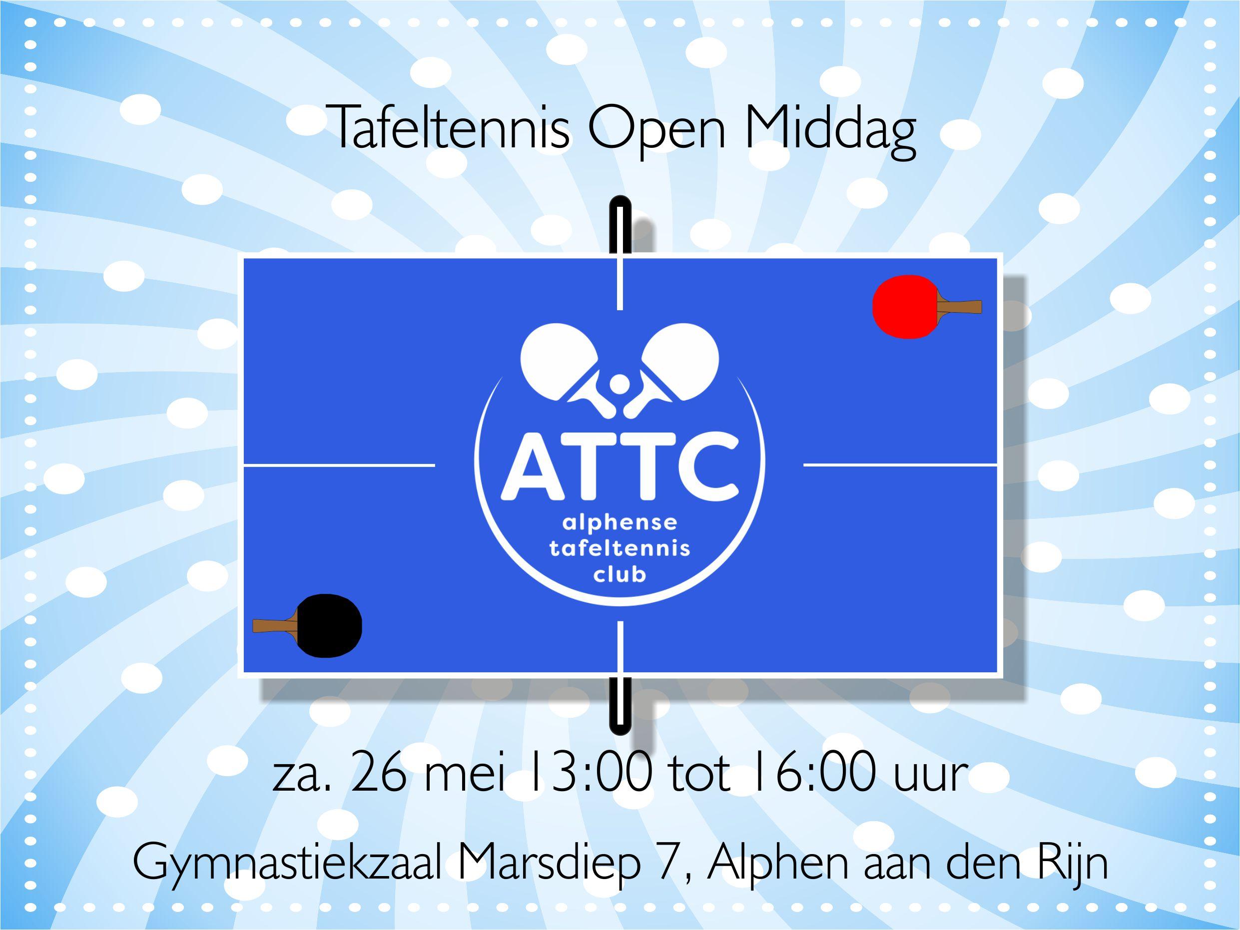 ATTC Open Middag zaterdag 26 mei